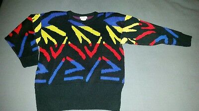 Vintage 80's Katies Funky Knit Jumper Size 10 Fantastic Condition