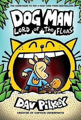 Dog Man 5: Lord of the Fleas by Dav Pilkey Hardcover Book Free Shipping!