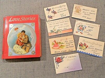 Special Love Story Tin Box Genuine Vintage LOVE Notes Cards To Mommy From Poppy