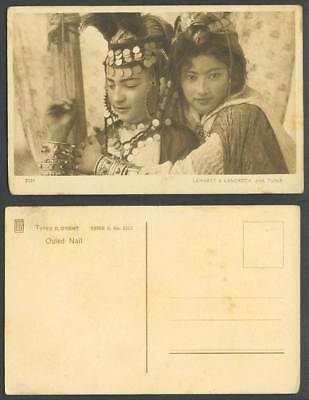 Tunisia Old Postcard Ouled Nail Native Girls Young Women, One Girl wearing Coins