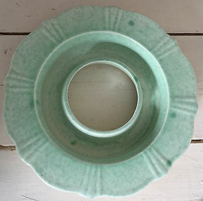 Vintage green George Clews & Co 23cm Posy circular vase