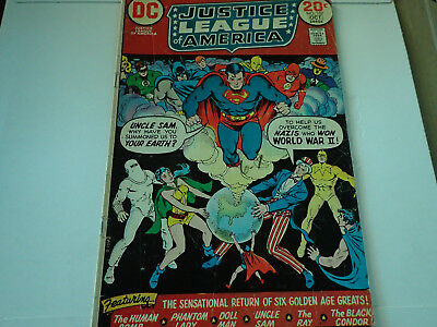 Justice League Of America No. 107 Oct. 1973 W/ Justice Society Dc Comics  Vg/fn