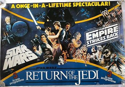 Star Wars Trilogy - UK BRITISH QUAD POSTER 1993 - Reproduction - Rolled