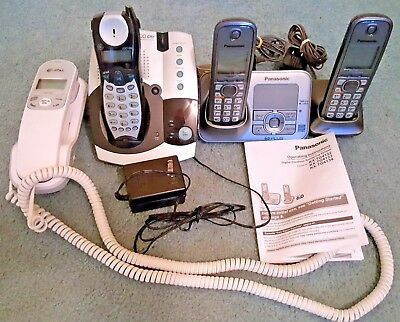 Lot of Cordless & Corded Phones – AT&T, GE & PANASONIC w/Answering Machines
