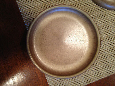 4 Denby Romany brown salad bread plate 6 1/2 in