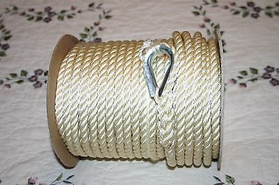 "3/8"" x 150' NYLON ANCHOR LINE WITH THIMBLE"