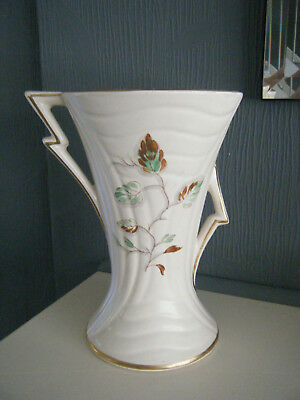 Arthur Wood Athena Patterned Vase In An Ivory Colour With Handpainted Flowers