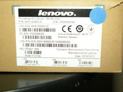 Lenovo ThinkPad Pro Dock - 90 W (US) 40A1
