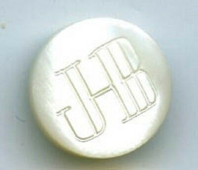 JHB logo/vanity small pearl button plus 3 page paper about the button company
