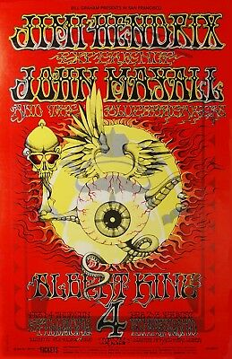 BG105 Poster FLYING EYEBALL Rick Griffin JIMI HENDRIX proof 165 FD aor 1968