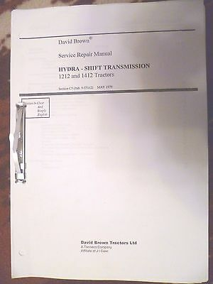 David Brown Tractor Gearbox Manual Hydra Shift Transmission 1212 1412