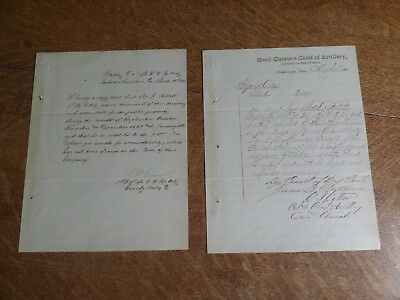 March , 1865 Civil War Documents-Joseph L. Follett is paid and Promoted