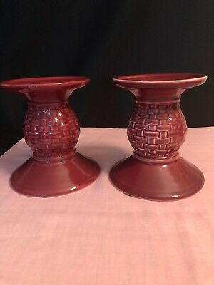 Longaberger Paprika Candle Holders Matching Set of 2 - These are Seconds