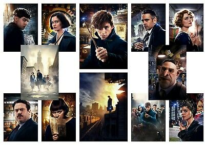 Fantastic Beasts and Where to Find Them   A5 A4 A3 Textless character posters