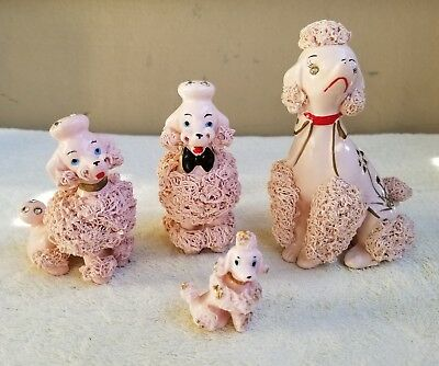 Vintage Pink Spaghetti Poodles w/ Jewels - 1 Thames (4) - VGUC