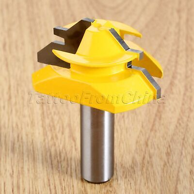 45 Degree Milling Router Bit 1/2 Inch Shank Matched Tongue Groove Chisel Cutter