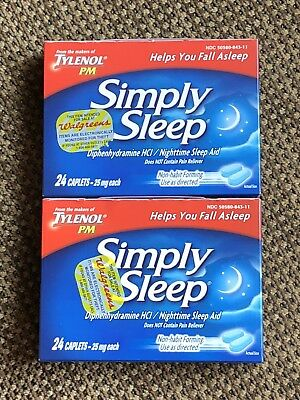 Simply Sleep Aid Nighttime Aid 25 mg From the Makers of Tylenol PM 48 Caps