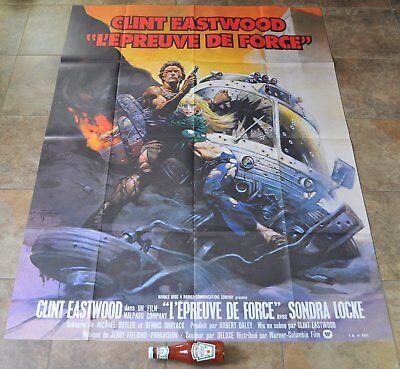 THE GAUNTLET Movie Poster - MASSIVE Original CLINT EASTWOOD - RARE French -1977