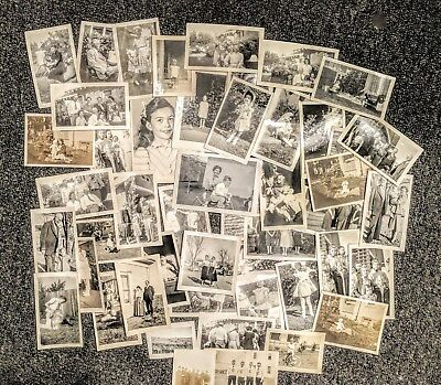 Lot of 100 Vintage B&W Sepia Family Photographs 1940s from Texas