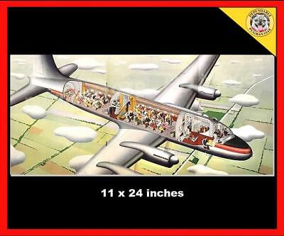 TRANS CANADA AIRLINES c1948 AIRLINE BROCHURE...Horizons Unlimited CUTAWAY