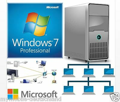 Vollversion Windows 7 Professional 32/64 Bit OEM Online 1PC Laptop Computer