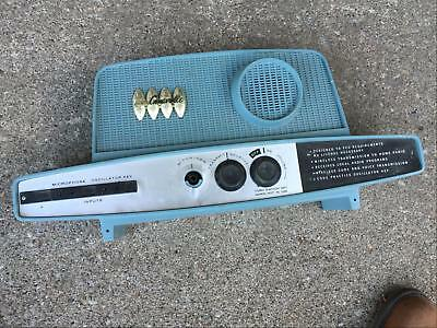 Remco Caravelle toy radio 1962 not tested transmitter AM receiver retro atomic