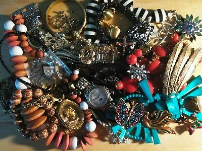 Huge Vintage-Now Junk Drawer Estate Untested Unsearched Jewelry Lot