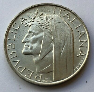 1965 Italy 500 Lire Silver World Coin