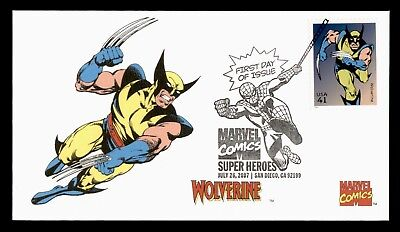 Dr Who 2007 San Diego Ca Marvel Comics Wolverine Fdc C32057