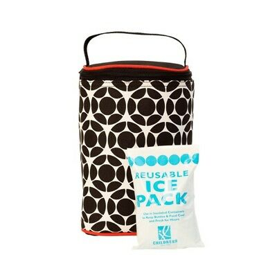 New J.L Childress Tall Two-Cool 2-Bottle Cooler - Black/ Red Floral Free Express