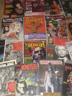 BIG LOT OF 22 DIFF HIGH GRADE  HORROR / MONSTER MAGS . Great mix!