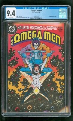 Cgc 9.4 Omega Men #3 D.c. Comics 6/1983 First Appearance Of Lobo (Moving Coming