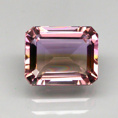 Gracefully 6.92ct. Octagon Cut 100%natural Top Bi Colors Purple Yellow Ametrine