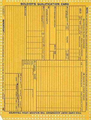Vintage Unused Lot (6) Wwii War Department Soldiers Qualification Card Forms