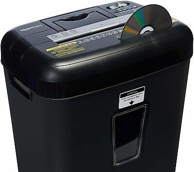 12-Sheet Crosscut Paper and Credit Card Shredder with Pullout Basket