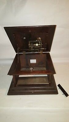 COLUMBIA Graphophone Wood Box / Cabinet with MOTOR