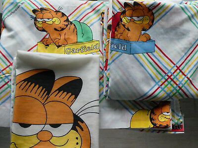 Vintage Garfield 3Pc Sheet Set