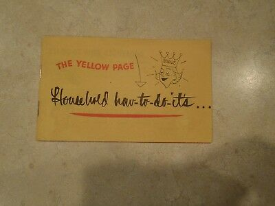The Yellow Page Household How-To-Do-Its Booklet Northwestern Bell Vintage Phone