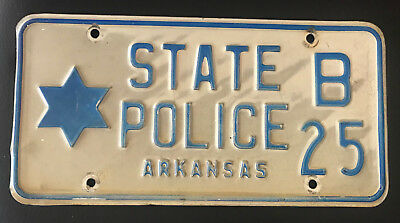 Very Low Start: License Plate Sale: STATE POLICE - ARKANSAS - very rare