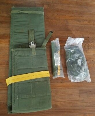 US Army Airborne Surplus: Hook Pile Tape Lowering Line, Harness & Weapons Case