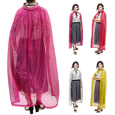 """55"""" Cosplay Costumes Cloak Cape Adult Men Women Party Sequined Fancy Dress New"""