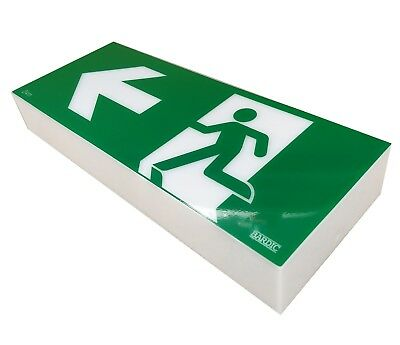 10W Emergency Exit Light SIGN ONLY Wall Mount Single Sided LEFT RM3