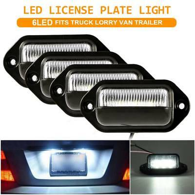 4X 6LED License Number Plate Light Tail Rear Lamp For Truck Trailer Lorry 12/24V
