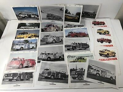 (23) Vintage American LaFrance Century Series Fire Apparatus Sales Sheets Photos