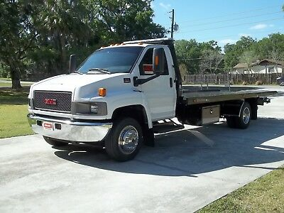 gmc c 5500 wrecker tow truck rollback car carrier