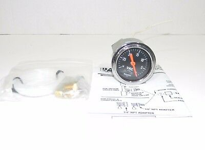 """Autometer 2471 Traditional Chrome Mechanical Vacuum Gauge 2 1/16"""" NEW"""