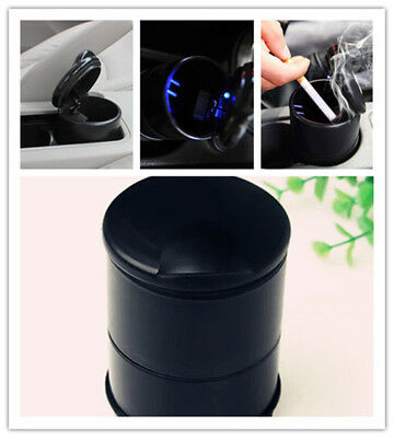 1Pcs Black Car Accessories Illuminated Ash Bin Car Ashtray LED Light Easy Clean