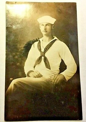 1914-1918 World War 1 Sailor Portrait Postcard! Gay Int!