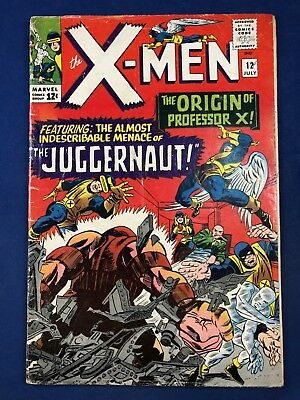 X-Men #12 (1965 Marvel Comics) 1st appearance Juggernaut Silver Age NO RESERVE