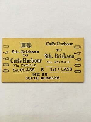 NSW Railway Ticket - South Brisbane - Coffs Harbour